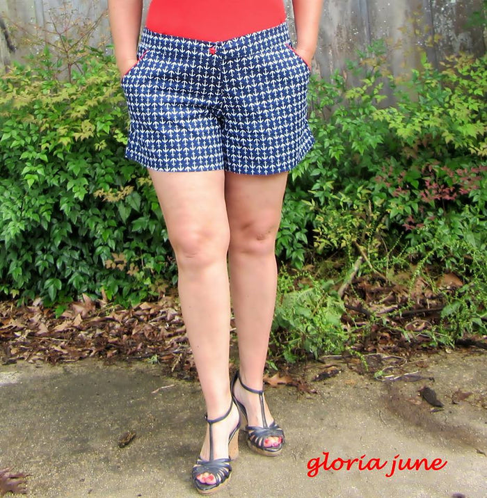 GreenStyle Taylor Shorts Bonus Piping Tutorial for Pocket
