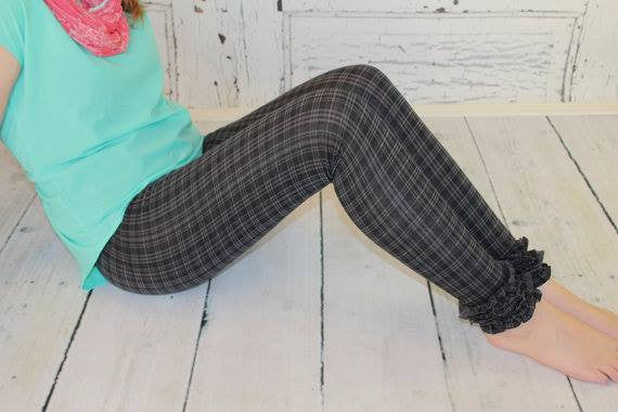 Women's Lucy Leggings with Plain or Ruffle Hem Options PDF Sewing Pattern for Women Size 0-18