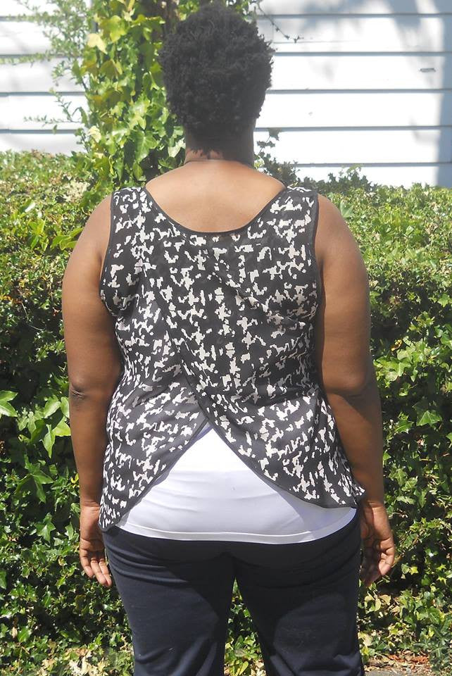 Cross Back Top PDF Sewing Pattern in Sizes XXS to 3XL
