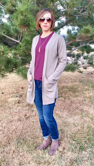 Capsule Cardigan PDF Sewing Pattern in Sizes XXS to 3XL