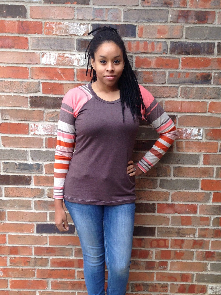 PLUS SIZE Centerfield Raglan T-Shirt PDF Pattern Sizes 2XL to 3X PDF Sewing Pattern