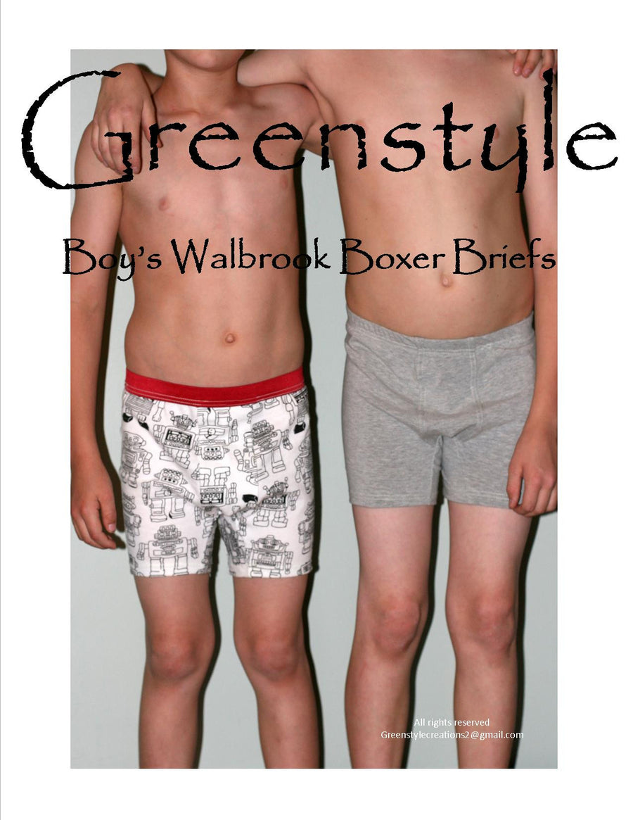 Boy's Walbrook Boxer Briefs PDF Sewing Pattern 2T to 14 years