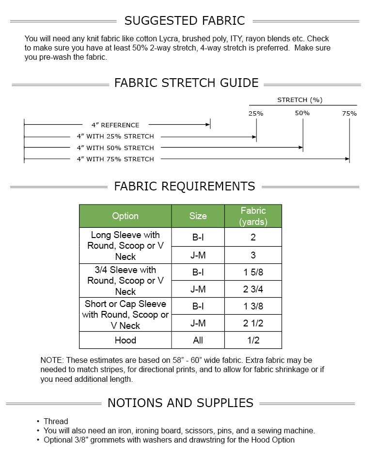 Valerie Dress PDF Pattern Sizes B - M