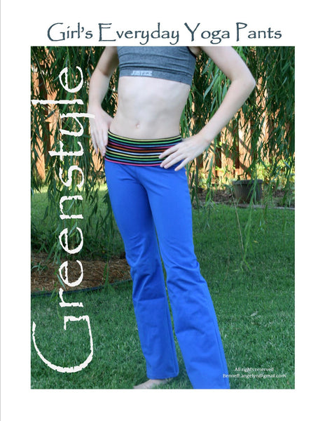 Girl S Everyday Yoga Pants Pdf Sewing Pattern In Sizes Xs