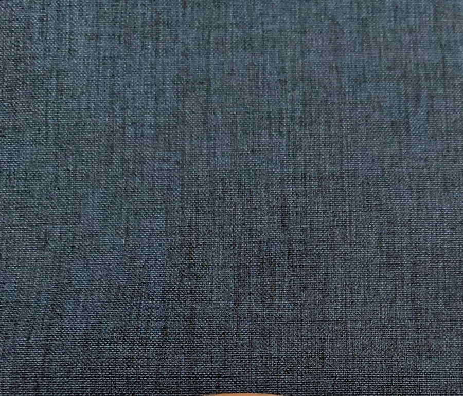 Stretch Woven -Darkest Blue Linen Look