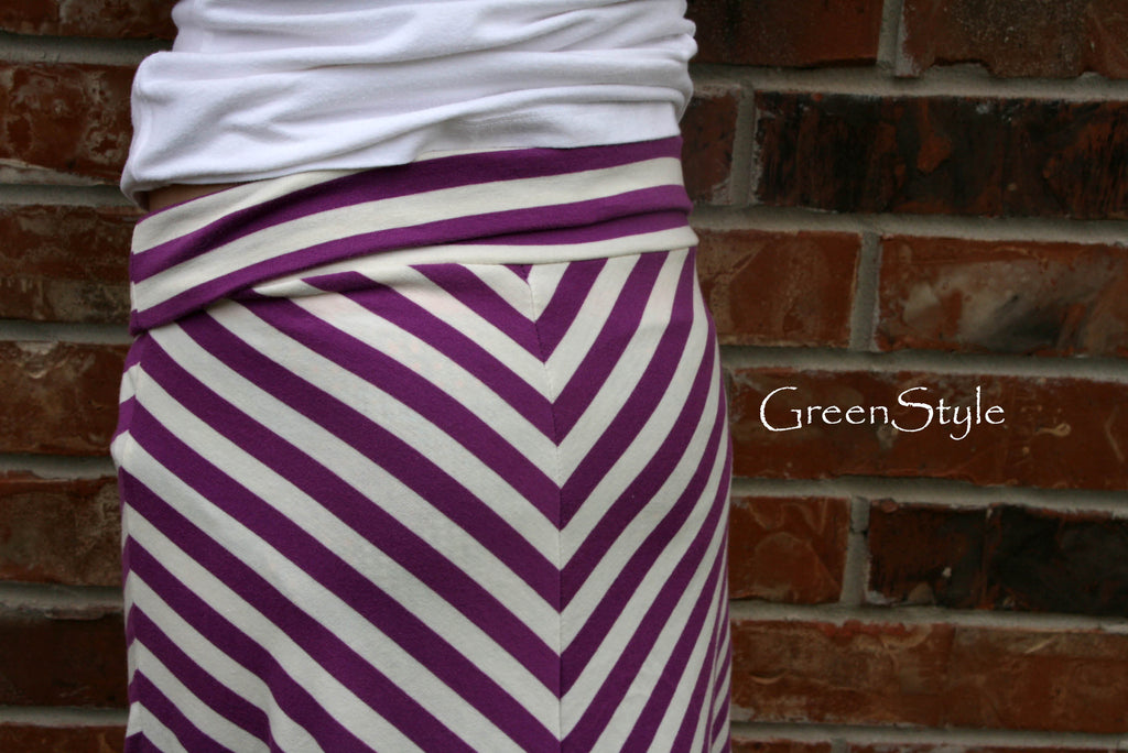 Women's Plus Amy Chevron Skirt PDF Sewing Pattern Sizes XL to 4X with Yoga Waistband