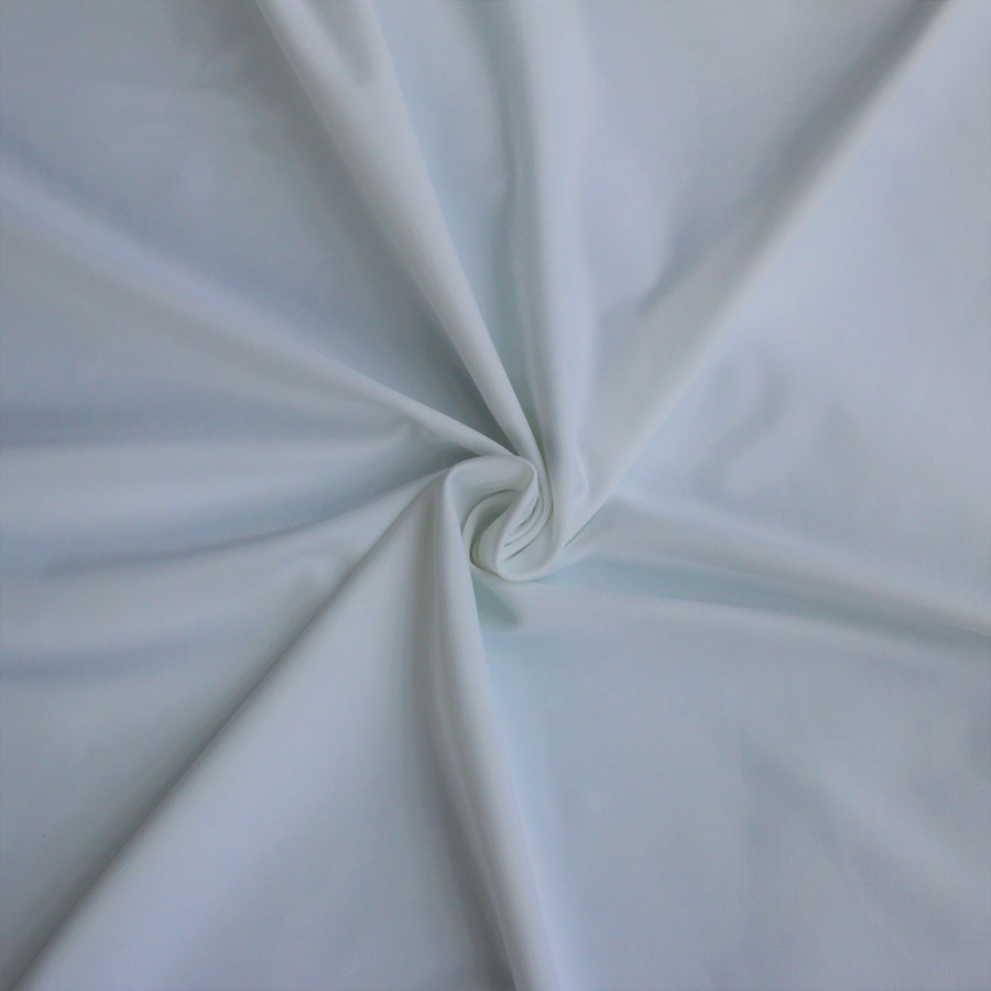 Nylon Spandex Brushed Tricot - White