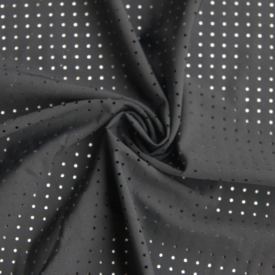 Laser Cut Performance Tricot - Black