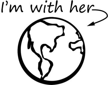 Cut File - Earth Day - I'm With Her