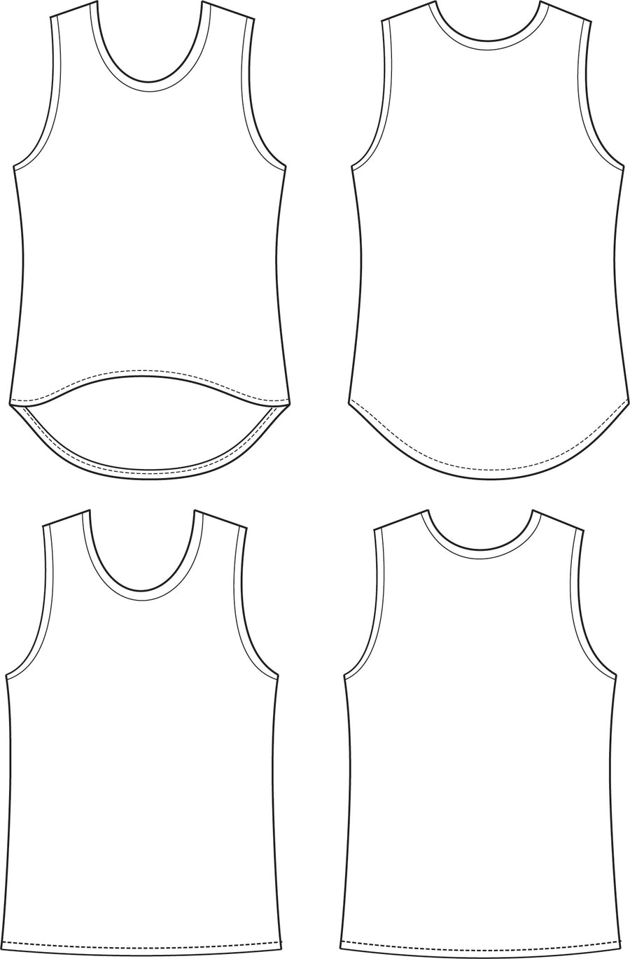 Slope Tank PDF Sewing Pattern Sizes 3-14