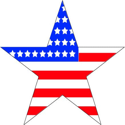 Memorial Day Stars And Stripes Grande on Zipper Clip Art