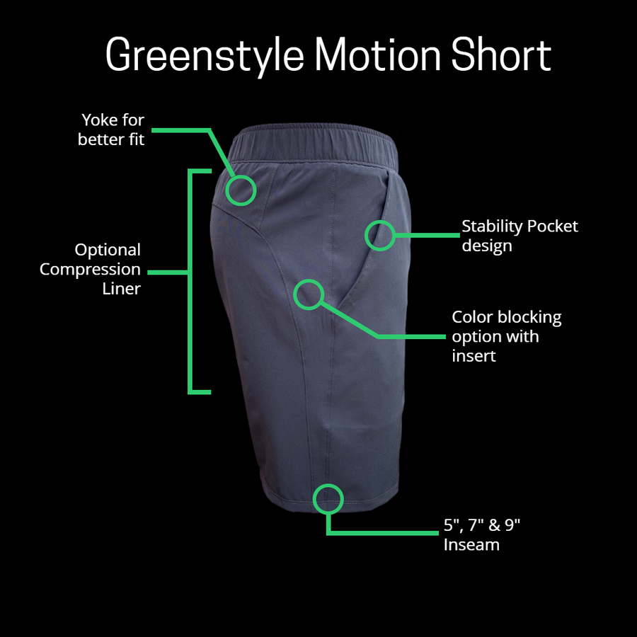 Motion Athletic Shorts  XXS to 4XL