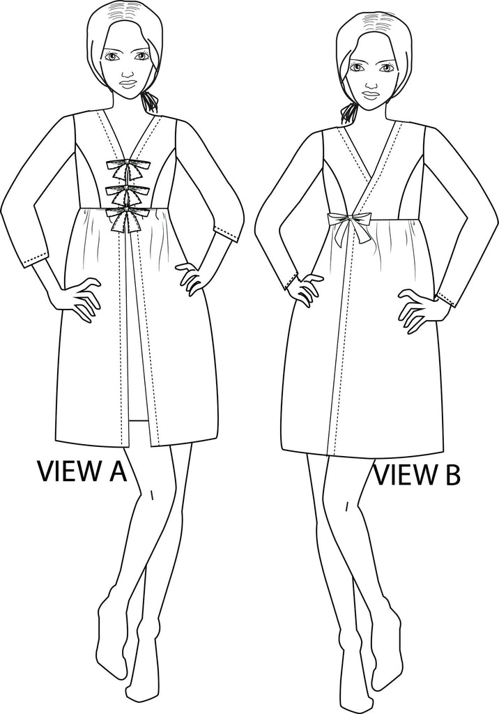 Sybil Robe  PDF Sewing Pattern  XXS to 3XL