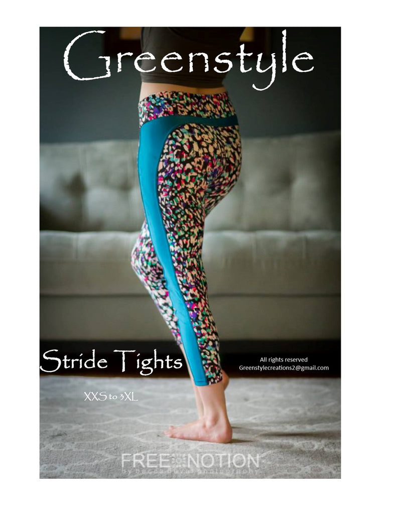 Stride Athletic Tights PDF Sewing Pattern XXS to 3XL