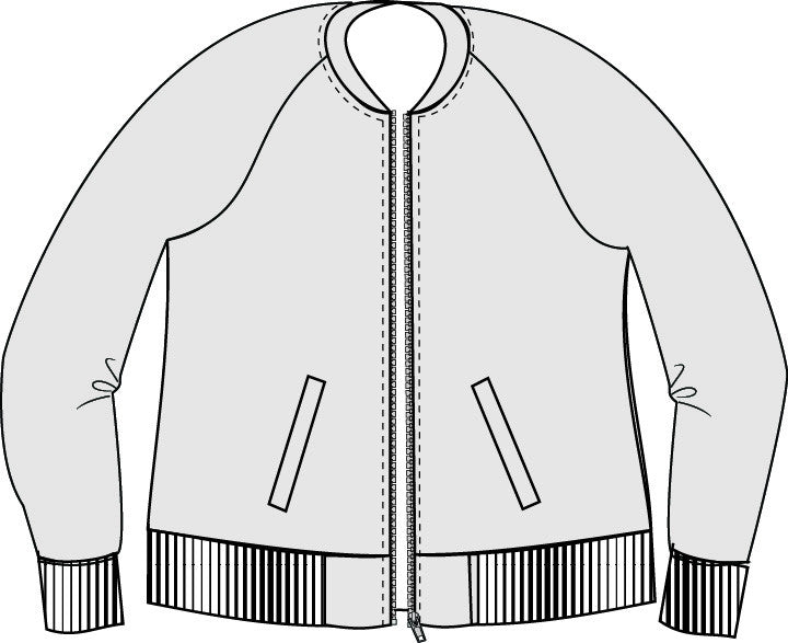 Midway Bomber Jacket PDF Sewing Pattern XXS to 3XL – GreenStyleCreations