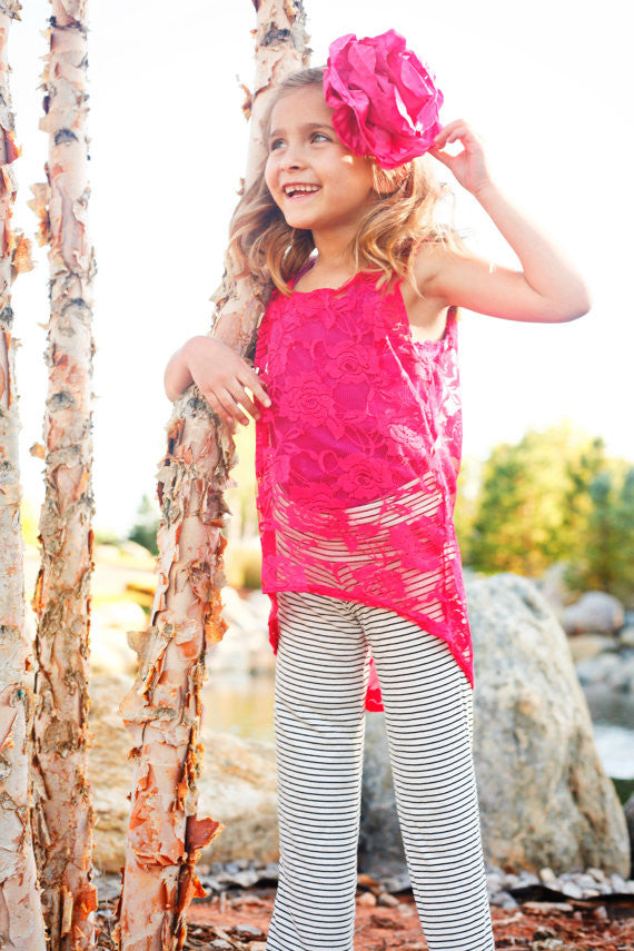Lacy Slope Tank Top Easy PDF Pattern for Toddler to Tween 3 years to 12 years