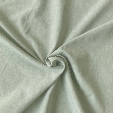 Stretch Woven - Light Green Linen Look