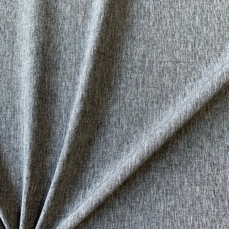 Stretch Woven - Grey Linen Look