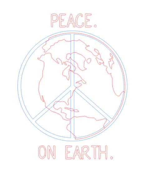Cut File - Peace on Earth