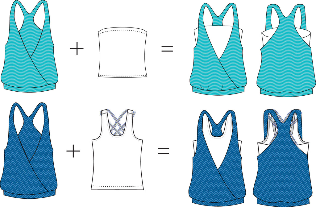 Jillian Tank PDF Sewing Pattern XXS to 3XL - Instant Download