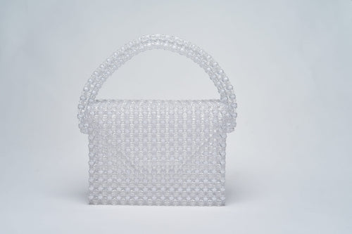 Danielle Bag- Clear/ White