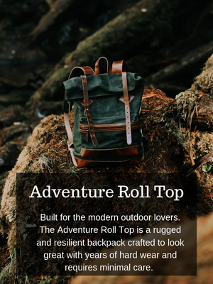 Adventure Roll top Backpack (Forest Green)