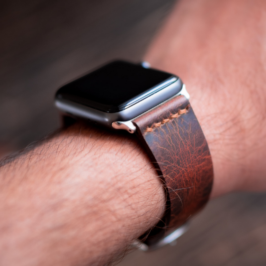 Minimal Apple Watch Strap (Tobacco Tan)