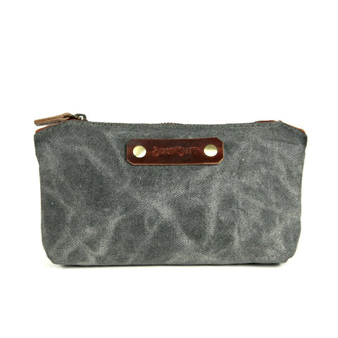 Stationery Canvas Pouch (Charcoal Grey)