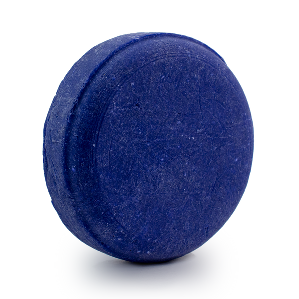 Blonde Bombshell purple toning shampoo bar for processed blonde hair