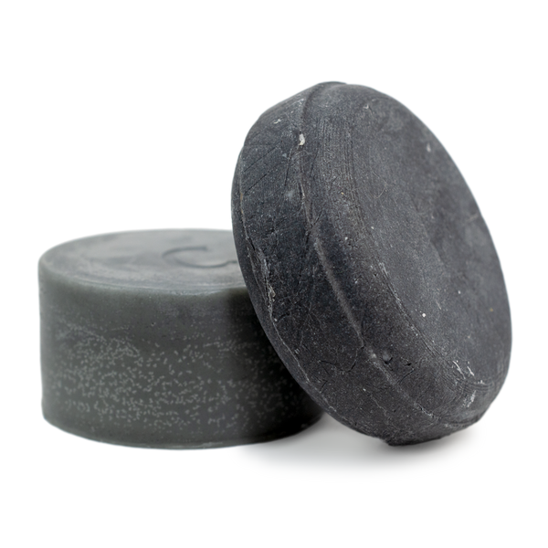 Clarify shampoo bar and conditioner bar gift set for thin hair or removing build up contains activated charcoal