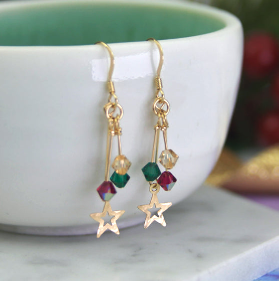 Christmas Star Earrings