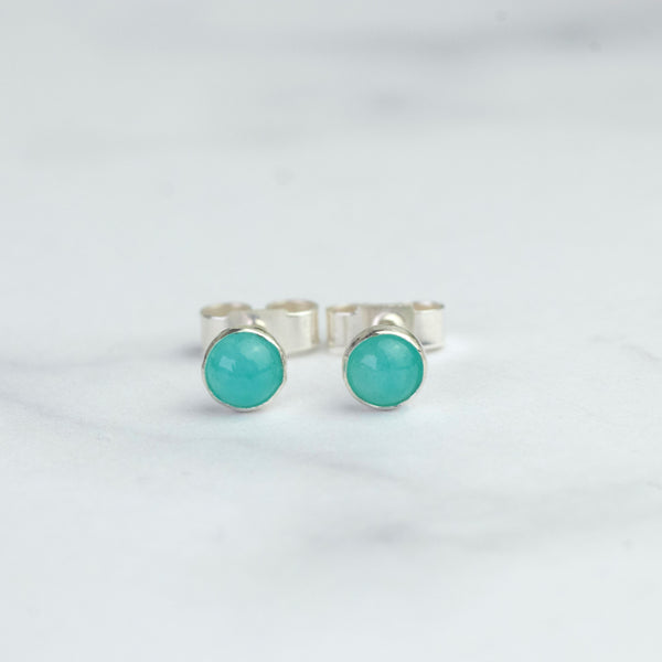 Amazonite Stud Earrings