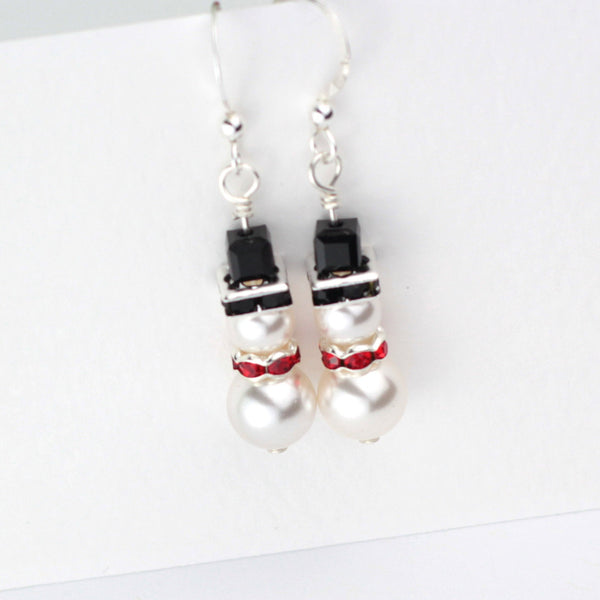 Swarovski Snowman Earrings