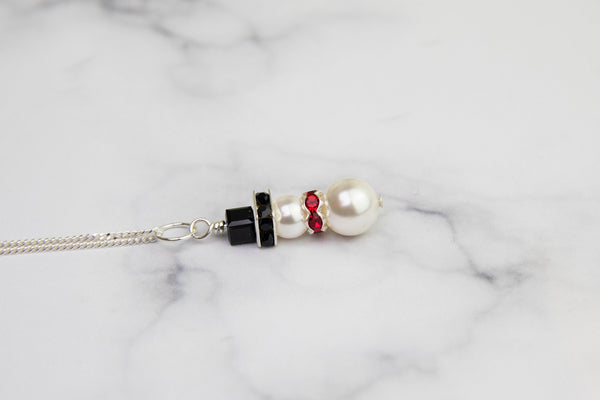 Swarovski Snowman Necklace