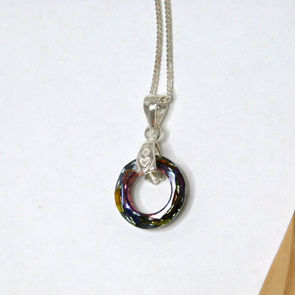 Swarovski Volcano Cosmic Ring Necklace