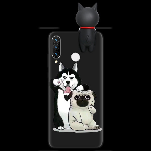 Silicone Cover For Huawei P40 P30 P20 Lite Pro Y9 Y7 Y6 P Smart 2019 Z Plus Cartoon Doll Soft Case Fundas For Huawei Honor 8X 9X