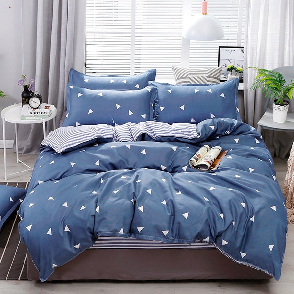 Solstice 3D Universe Stars Bedding 3 / 4pcs Kit Cartoon BedSheet Pillowcase Bedclothes Bed Linen Single Twin Full Queen Sizes
