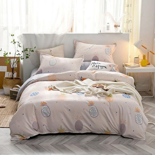 J Tropical Plant Flower Pattern Kid Bed Cover Set Duvet Cover Adult Child Bed Sheets and Pillowcases Comforter Bedding Set 61006