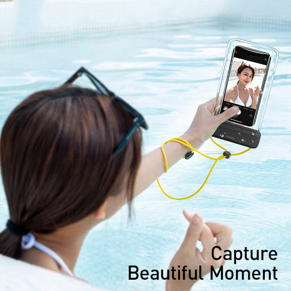 Baseus 7.2 inches Waterproof Phone Case Bag Swimming Bag Universal Mobile Phone Pouch Phone Case Cover For Drift Diving Surfing