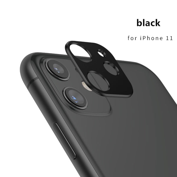 Metallic Mobile Phone Lens Protection Cover For iPhone 11 Pro Max Camera Lenses Protector Bumper Ring Case Smartphone Back Lente