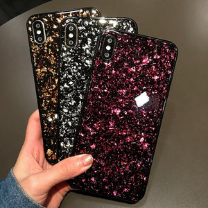 Shining Glitter phone Cases For iphone 11 6 6s Bling Sequins case for iphone 11 6 6S 7 8 Plus X XS XS Max soft Black Back Cover