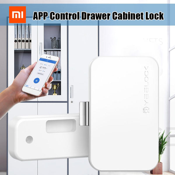[variant_title] - Xiaomi Original YEELOCK Smart Drawer Cabinet Lock Keyless bluetooth APP Unlock Anti-Theft Child Safety File Security