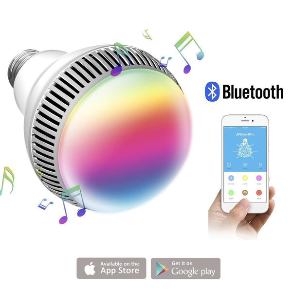 [variant_title] - E27 Smart RGB Wireless Bluetooth Speaker Bulb 9W LED Light Music Speaker Timer Player Dimmable Remote Control Music Lamp
