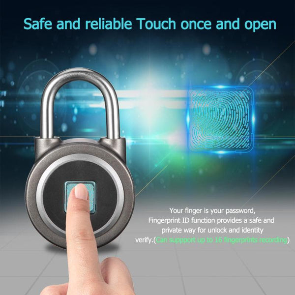 [variant_title] - Anytek P2 Smart Fingerprint Lock Bluetooth Phone APP Padlock Door Lock