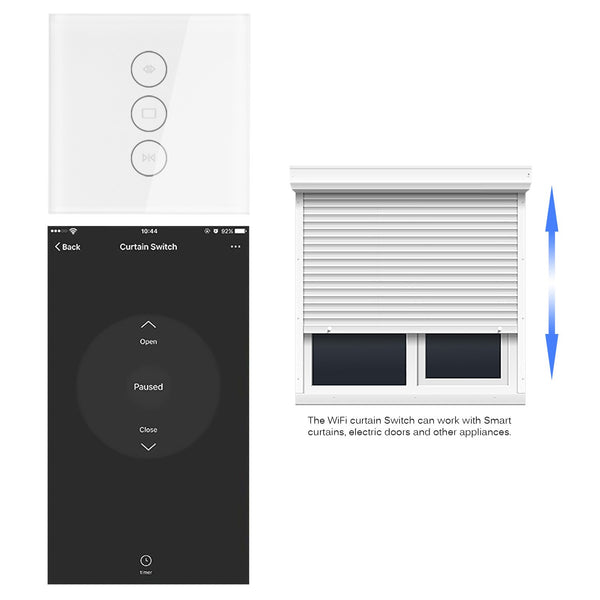 [variant_title] - App EU wifi tuya smart touch curtain switch voice control by Alexa echo Google  phone control For Electric curtain motor