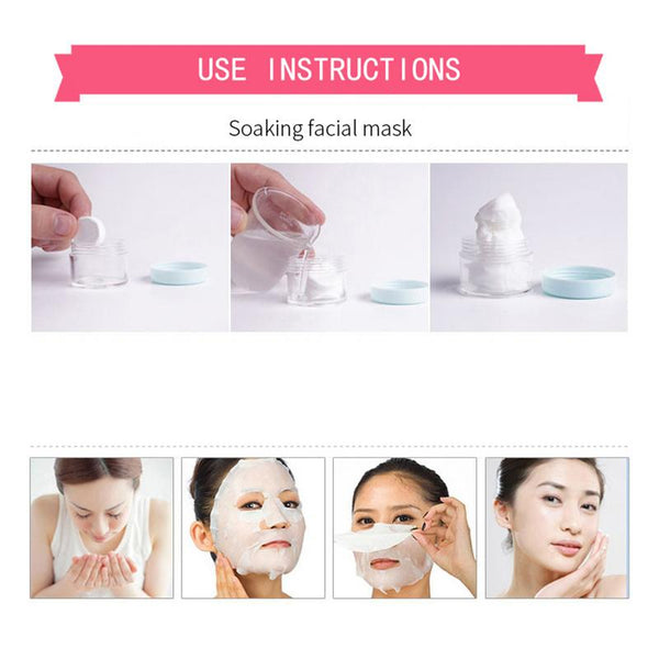 [variant_title] - 30pcs/bag Facial Compression Mask Nonwoven Fabric Mask Paper Skin Care Dry Disposable Compressed Towel Face DIY Mask Makeup Tool