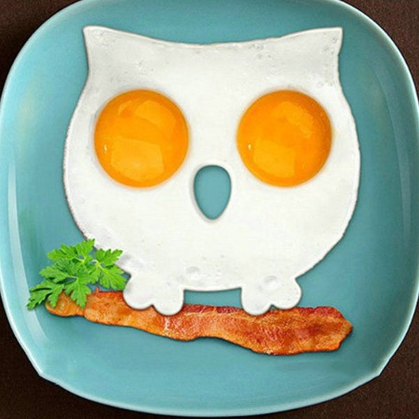 [variant_title] - Breakfast Silicone Owl Fried Egg Omelette Mold Pancake Ring Shaper Cooking Tools Kitchen Gadgets Kid Gift