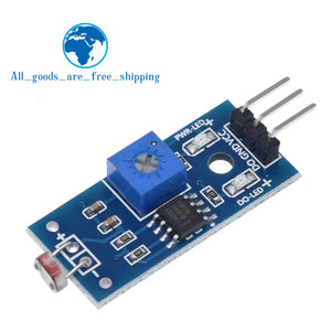 Default Title - TZT Photosensitive brightness resistance sensor module Light intensity detect New For Arduino