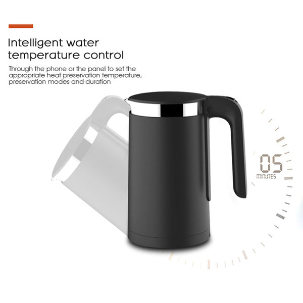 [variant_title] - XIAOMI VIOMI Pro Electric Kettle 1.5L 1800W Smart Constant Temperature 5min Fast Boiling OLED Water Kettle Household APP Control