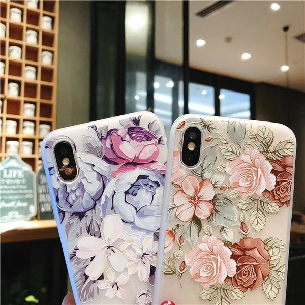 KISSCASE Case For Samsung Galaxy Note 10 A50 A70 A30 A20 3D Relief Silicone Flower Case For Samsung S10 S8 S9 Plus а30s S7 Cover